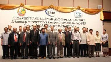 ERIA Organizes Capacity Building Seminar and Workshop in Vientiane towards ASEAN Economic Integration