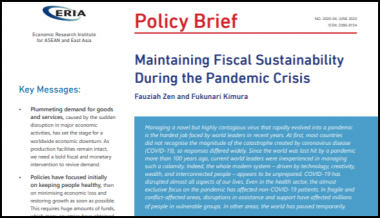 [Policy Brief] Maintaining Fiscal Sustainability during the Pandemic Crisis