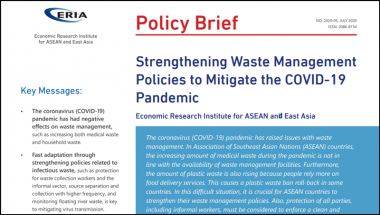 [Policy Brief] Strengthening Waste Management Policies to Mitigate the COVID-19 Pandemic