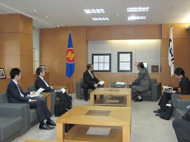 Visit of delegation members from JETRO Japan