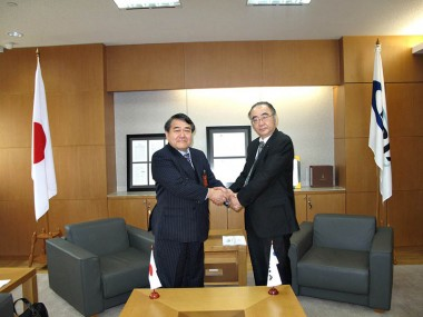 Visit of Chairman of Japan Research Institute, Mr. Jitsuro Terashima