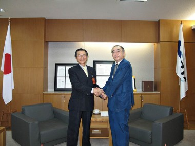Visit of Mr. Akihiko Hirotani, Chairman of Oriental Consultants Co., Ltd.