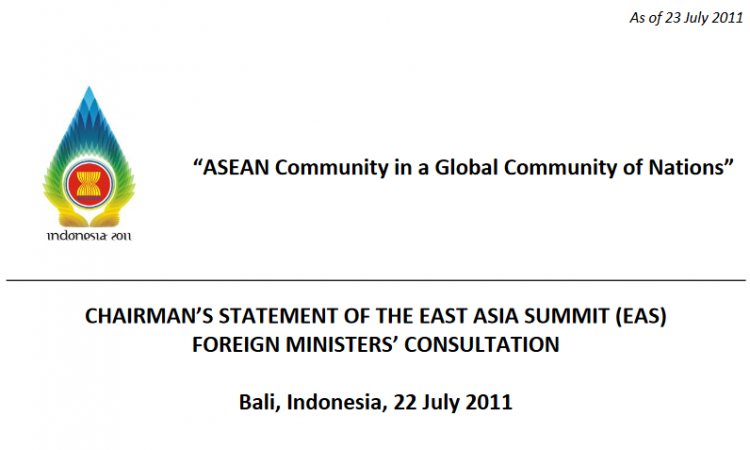 EAS Foreign Ministers' Consultation