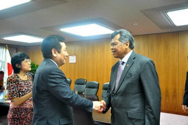 Meeting with Mr. Yukio Edano, Minister of METI, Japan Mr. Tadahiro Matsushita, Senior Vice Minister of METI Japan