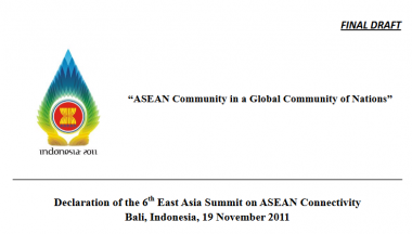 Declaration of 6th East Asia Summit on ASEAN Connectivity
