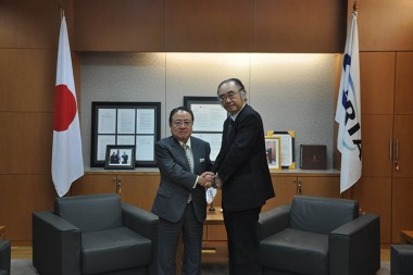 Visit of Chairman of the Board, Hitachi-GE Nuclear Energy, Ltd.
