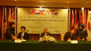 ERIA and Newly Established Network on Energy Research Sign MoU on Collaborative Undertakings