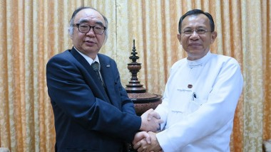 ERIA President, Professor Hidetoshi Nishimura, Meets Myanmar Ministers to Discuss Development Outlook