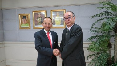 ERIA President Pays Courtesy Call to Office of Malaysian Minister Dato' Sri Abdul Wahid bin Omar