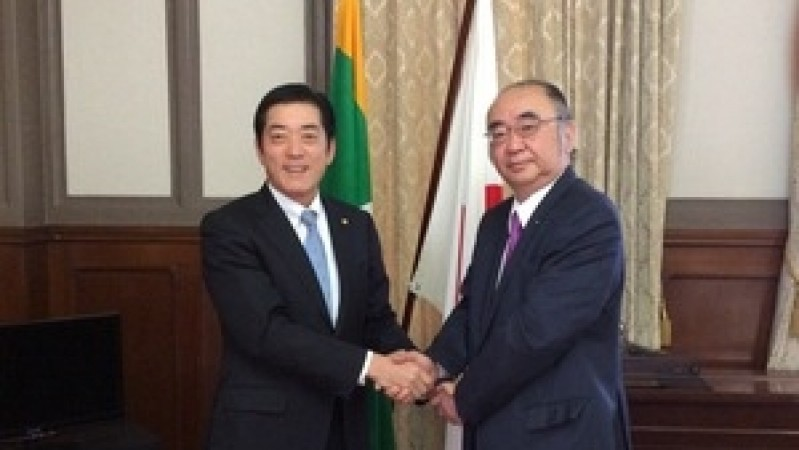 President of ERIA Visits Governor and Vice Governor of Ehime Prefecture, Japan