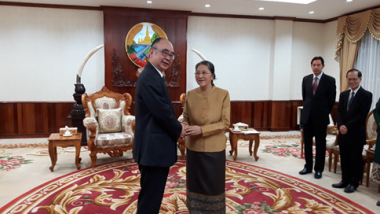 ERIA Courtesy Call to the President of National Assembly of Lao PDR