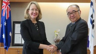 ERIA President Receives Courtesy Visit from Australian Ambassador to ASEAN