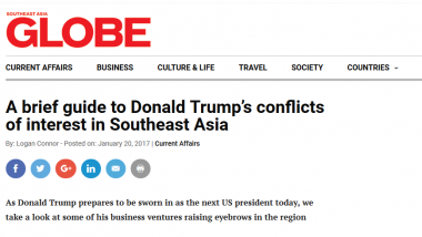 A Brief Guide to Donald Trump's Conflicts of Interest in Southeast Asia