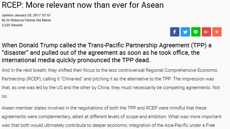 Opinion Piece - RCEP: More Relevant Now Than Ever for ASEAN