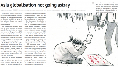 Opinion Piece - Asia Globalisation Not Going Astray