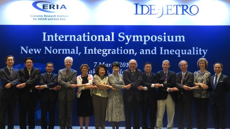 ERIA and IDE-JETRO Organises International Symposium 'New Normal, Integration, and Inequality'