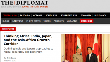 Article - Thinking Africa: India, Japan, and the Asia-Africa Growth Corridor