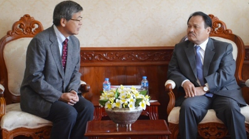 ERIA Pays Courtesy Call to Lao PDR Minister of Energy and Mines