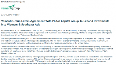 Article - Vemanti Group Enters Agreement With Plutos Capital Group To Expand Investments Into Vietnam & SEA