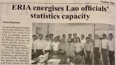Article - ERIA energises Lao officials' statistics capacity