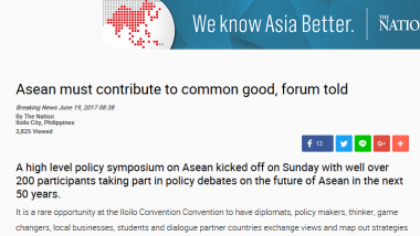 Article - Asean must contribute to common good, forum told