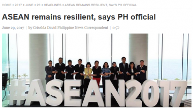 Article - ASEAN remains resilient, says PH official