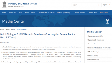 Press Releases - Delhi Dialogue 9 (ASEAN-India Relations: Charting the Course for the Next 25 Years)