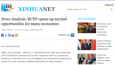 Article - News Analysis: RCEP opens up myriad opportunities for many economies
