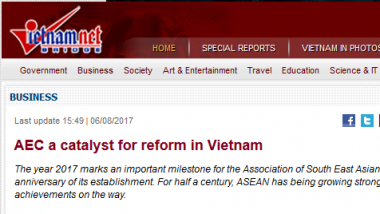 Article - AEC a catalyst for reform in Vietnam