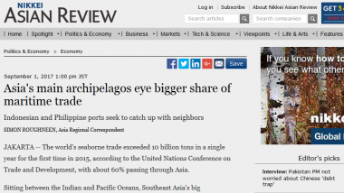 Article - Asia's main archipelagos eye bigger share of maritime trade
