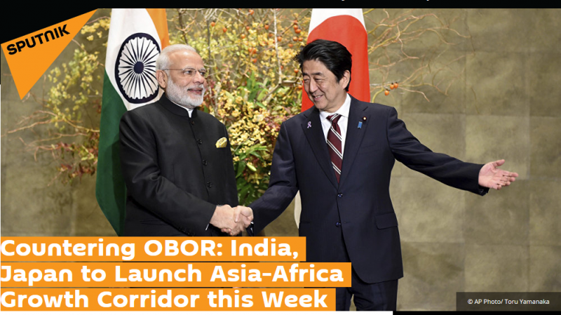 Article - Countering OBOR: India, Japan to Launch Asia-Africa Growth Corridor this Week