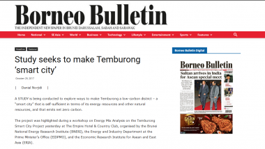 Article - Study seeks to make Temburong 'smart city'