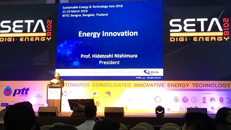 ERIA President Introduced Energy Research in SETA 2018