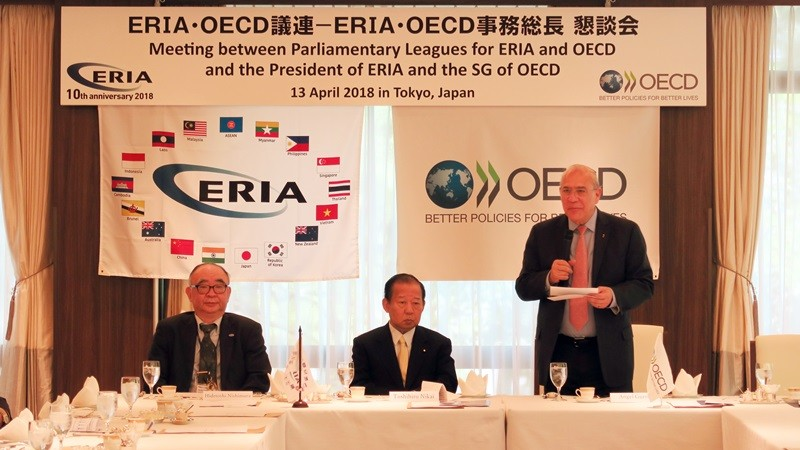 ERIA Hosts Meeting between ERIA, OECD, and Their Parliamentary Leagues
