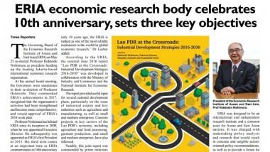 ERIA economic research body celebrates 10th anniversary, sets three key objectives