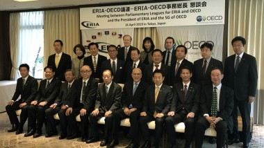ERIA President Meets OECD Secretary-General and Parliamentary Leagues for ERIA and OECD
