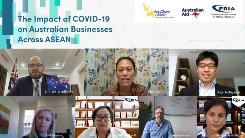 ERIA and AustCham Co-hosted Webinar on The Impact of Covid-19 on Australian Businesses Across ASEAN