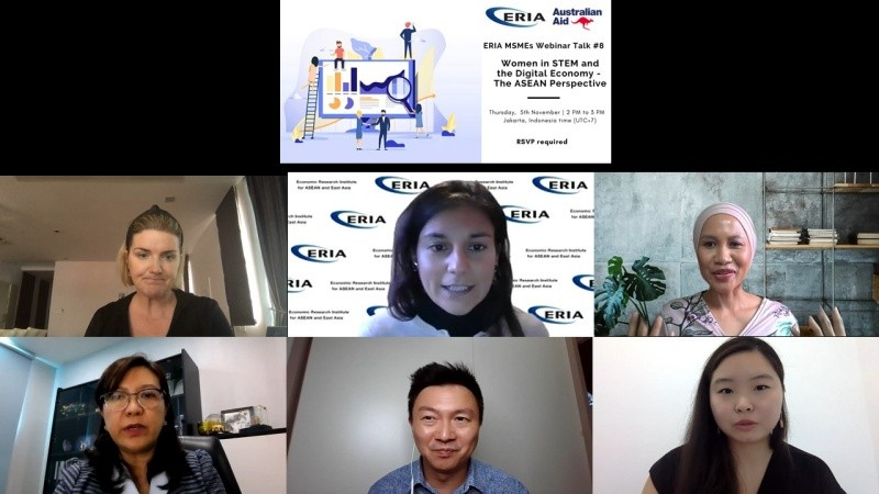 ERIA Hosts Webinar on Women in STEM and the Digital Economy from the Perspective of ASEAN