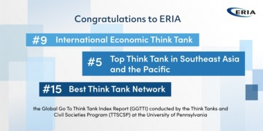 ERIA Ranks in the Top Ten International Economic Policy Think Tanks