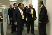 Prof Nishimura acted as guide in the office tour for parliamentarians
