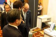 Minister Seko visited ERIA's booth