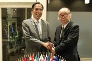 Prof Nishimura with Governor of Nagano Prefecture