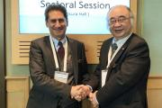 Prof Nishimura with Secretary General of IRENA