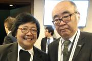 Prof Nishimura with Minister of Environment of Indonesia