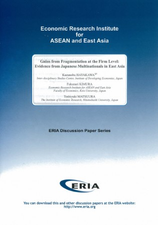 Gains from Fragmentation at the Firm Level:Evidence from Japanese Multinationals in East Asia