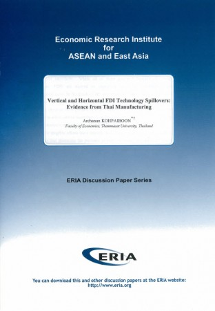 Vertical and Horizontal FDI Technology Spillovers: Evidence from Thai Manufacturing