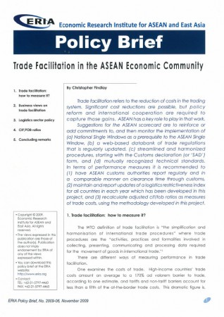 Trade Facilitation in the ASEAN Economic Community