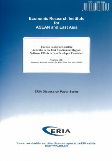 Carbon Footprint Labeling Activities in the East Asia Summit Region: Spillover Effects to Less Developed Countries