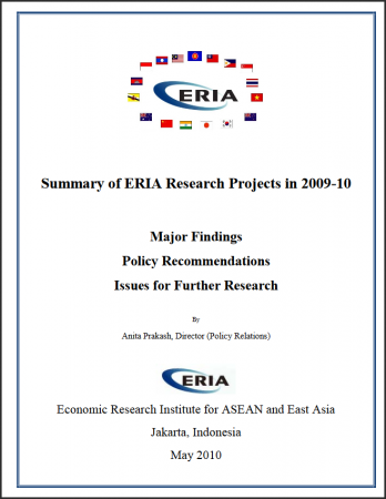 Summary of ERIA Research Projects 2009 - 2010