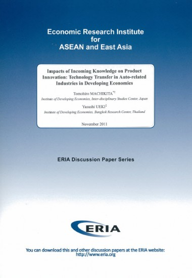 Impacts of Incoming Knowledge on Product Innovation:  Technology Transfer in Auto-related Industries in Developing Economies